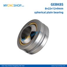 100Pcs GEBK8S 8×22×12×9mm radial spherical plain bearing with self-lubrication