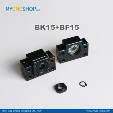 1Pcs BK15 + 1Pcs BF15 Ballscrew bearing mounts end support