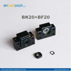 1Pcs BK20 + 1Pcs BF20 Ballscrew bearing mounts end support