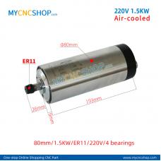 CNC spindle CHANGSHENG DIA.80mm 1.5KW ER11 4bearing For Engraving Milling