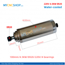 CNC spindle CHANGSHENG DIA.100mm 4.5KW er20 220v 4bearing For Engraving Milling