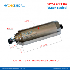 CNC spindle CHANGSHENG DIA.100mm 4.5KW er20 380v 4bearing For Engraving Milling