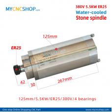 CNC spindle CHANGSHENG DIA.125mm 5.5KW er25 380v 4bearing  stone For Engraving Milling