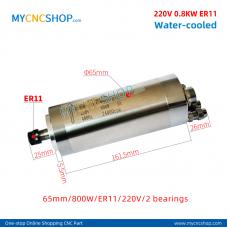 CNC spindle CHANGSHENG DIA.65mm 0.8KW er11 220v 2bearing For Engraving Milling