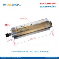 CNC spindle CHANGSHENG DIA.65mm 0.8KW er11 220v 4bearing For Engraving Milling