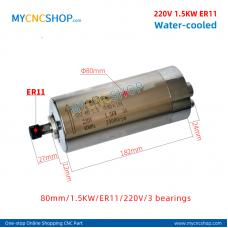 CNC spindle CHANGSHENG DIA.80mm 1.5KW er11 220v 3bearing For Engraving Milling