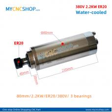 CNC spindle CHANGSHENG DIA.80mm 2.2KW er20 380v 3bearing For Engraving Milling