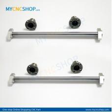 2Pcs Dia.10mm-L200mm Linear Shaft Hardened Rod+4Pcs SHF10 shaft rail support+4Pcs LMF10UU Linear Blocks Unit