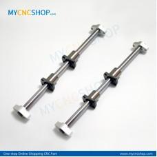 2Pcs Dia.10mm-L200mm Linear Shaft Hardened Rod+4Pcs SHF10 shaft rail support+4Pcs LMH10UU Linear Blocks Unit