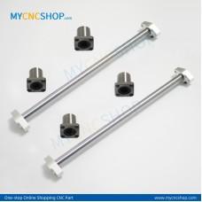 2Pcs Dia.10mm-L200mm Linear Shaft Hardened Rod+4Pcs SHF10 shaft rail support+4Pcs LMK10UU Linear Blocks Unit