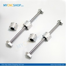 2Pcs Dia.10mm-L200mm Linear Shaft Hardened Rod+4Pcs SHF10 shaft rail support+4Pcs SCS10UU Linear Blocks Unit
