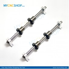 2Pcs Dia.10mm-L200mm Linear Shaft Hardened Rod+4Pcs SK10 shaft rail support+4Pcs LMF10UU Linear Blocks Unit