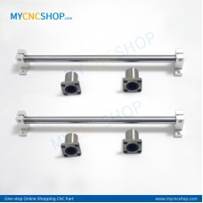 2Pcs Dia.10mm-L200mm Linear Shaft Hardened Rod+4Pcs SK10 shaft rail support+4Pcs LMK10UU Linear Blocks Unit