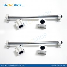 2Pcs Dia.10mm-L200mm Linear Shaft Hardened Rod+4Pcs SK10 shaft rail support+4Pcs SCS10UU Linear Blocks Unit