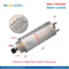 CNC router spindle SHUNTONG DIA.105mm 3.7KW ER20 380v 4bearing For Engraving Milling